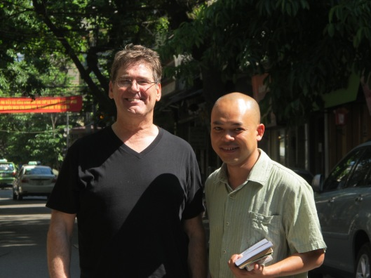Bruce Weigl & Vu Nhat Tan in 2011 in Hanoi.