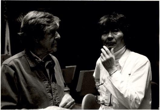 John Cage & Seiji Ozawa discussing the world premiere of Quartets.