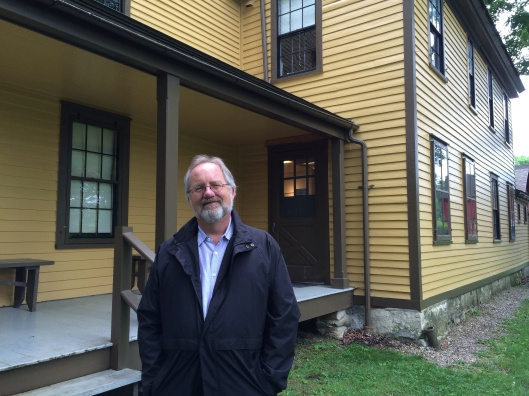 At the home where Melville wrote Moby Dick in Pittsfield MA.