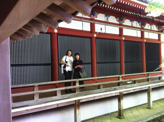 Old friends reunite at Eikando Temple in Kyoto.