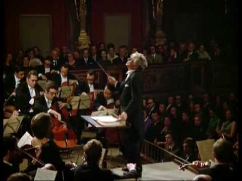 Leonard Bernstein with the Vienna Philharmonic.