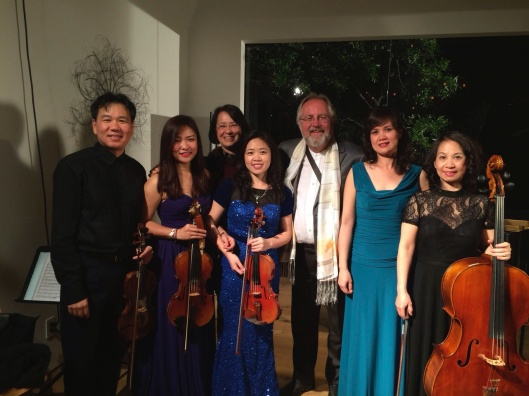 Jan and I with the Song Hong Ensemble of Hanoi at the U.S. debut in Los Angeles this April.
