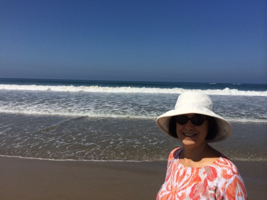 Our executive director at Venice Beach, dreaming across the water to Asia.