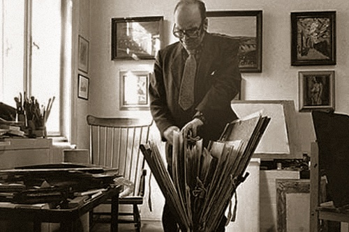 Georg Eisler's studio at Bechardgasse 6.