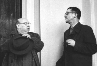 Hanns Eisler & Bertolt Brecht.