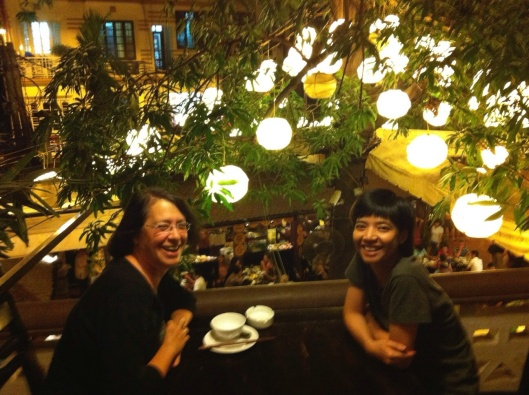 Jan with composer Kim Ngoc Tran in Hanoi.