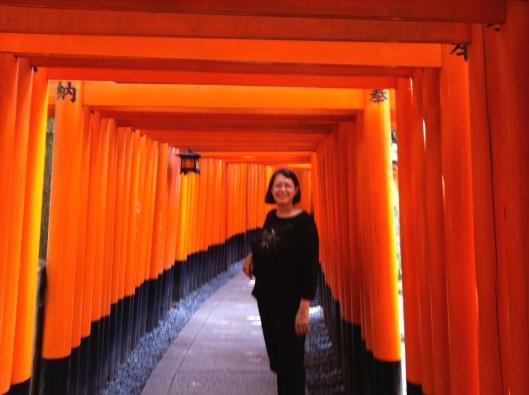 The beginning of the Fushimi Inari Shrine in Kyoto.