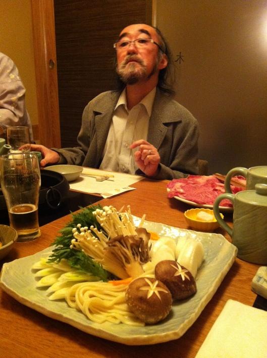 Ichiro approves the mushrooms!