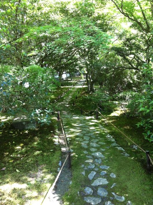 Just follow the paths at Saihio-ji.