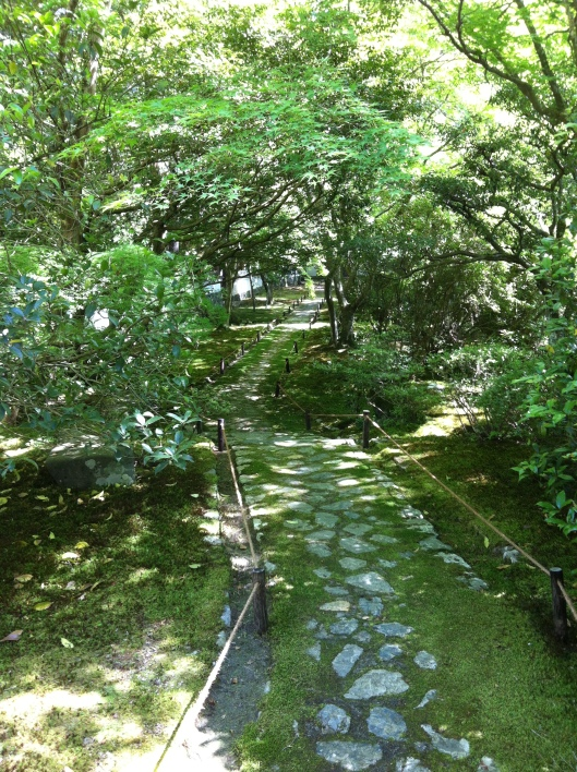 Just follow the paths at Saihio-ji.