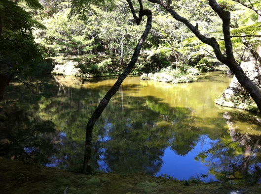 The pond at Saiho-ji.