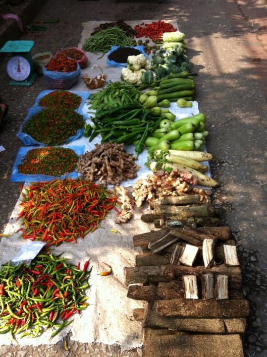 A market in Luang Prabang.