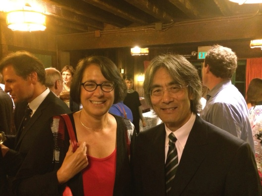 Old friends reconnect as Jan and Kent Nagano see each other again in San Francisco.