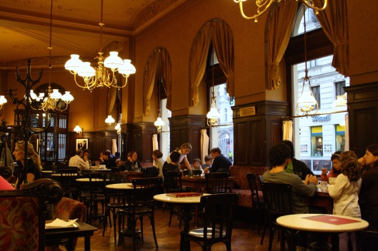 Cafe Landtmann, a favorite of Sigmund Freud.