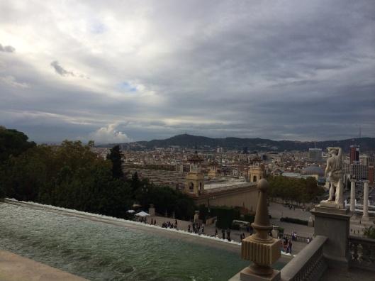 A majestic sky over Barcelona.