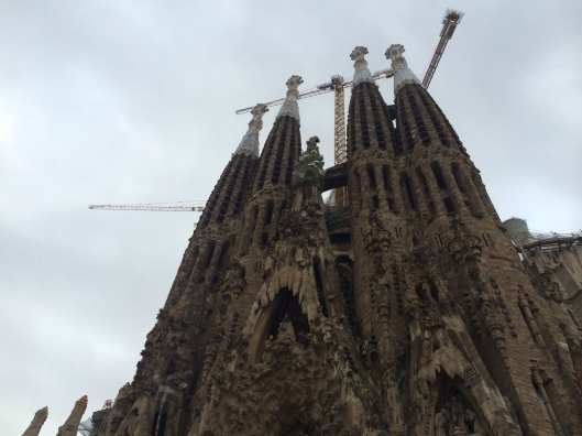 The Sagrada Familia of Antoni Gaudi.