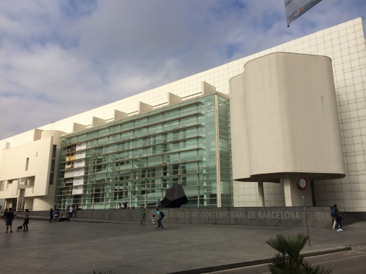Richard Meier's MACBA in the Raval District off La Rambla.
