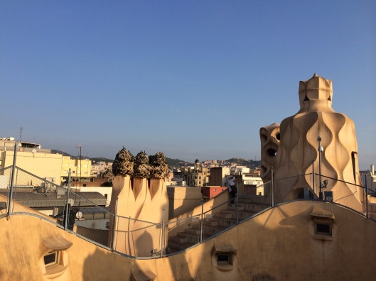 Gaudi's chimneys and water towers at La Pedrera.
