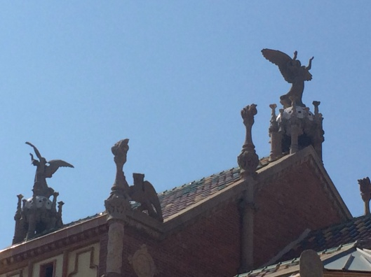 Angels soaring at the Hospital Santa Creu.