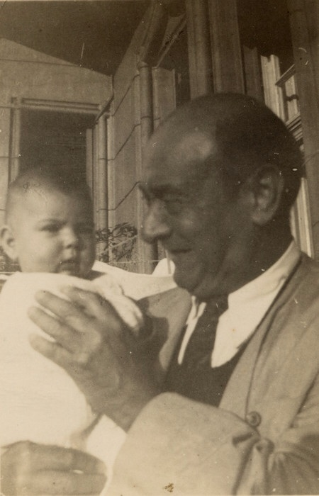 Our friend Nuria with her father Arnold Schoenberg.