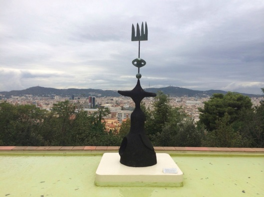 The Joan MIro Foundation overlooks Barcelona.
