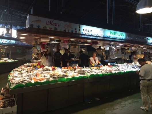 The not to be missed fish market at La Boqueria.