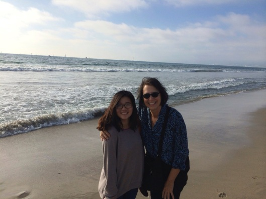 Nu Pham Son and Jan at Venice Beach on Lucky Sunday.