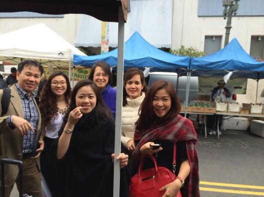 Cheese tasting at Drake Farms with the Song Hong Ensemble of Hanoi this April.