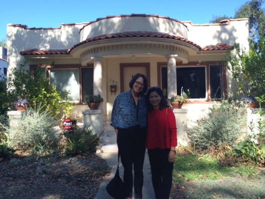 Jan and Thuy Thu Thuy at our Pasadena home.