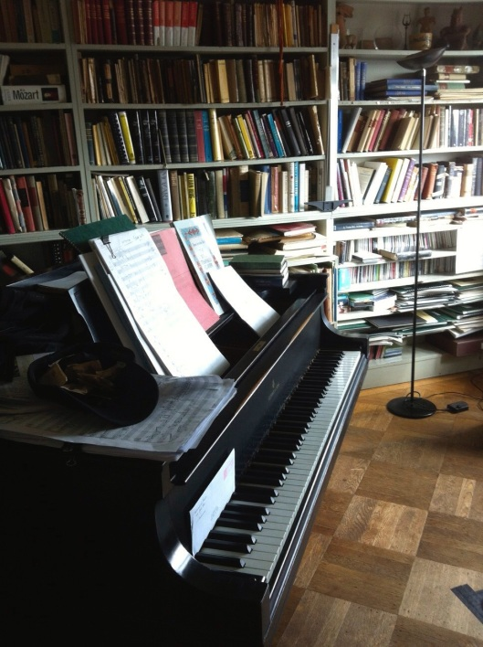 Carter's work room in his NYC apartment.