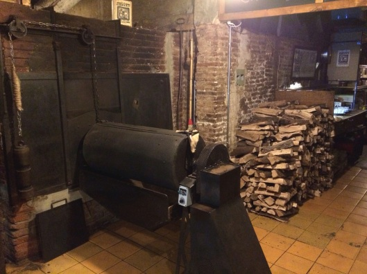 Casa Gispert's roaster hs been in continuos use since 1850.