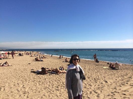Enjoying the Mediteranean.