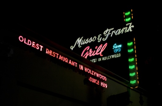 Finish a memorable day at Musso and Frank's.