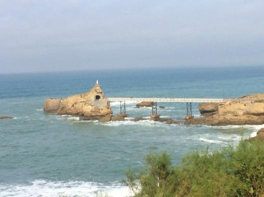 The coast of Biarrtiz.