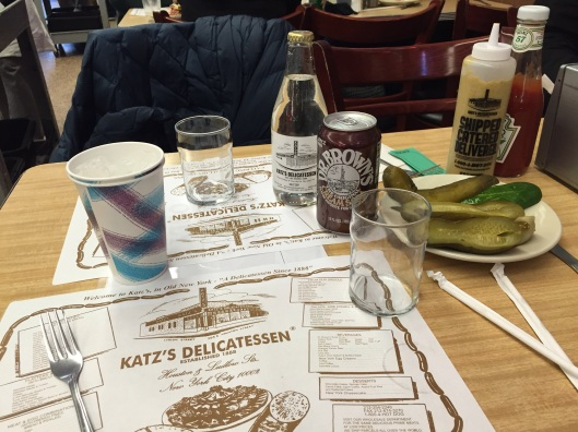 The right drinks are a must at Katz's Deli.