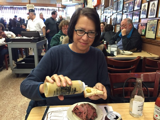 Jan has the right touch for the mustard. Please have your sandwich on rye bread!