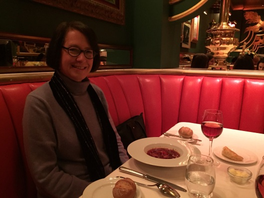 A lifetime of memory in a bowl of borscht with a samovar close by.