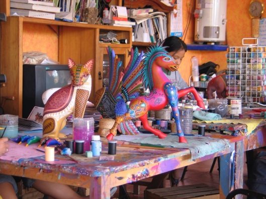 The alebrijes workshop of Jacopo Angeles in Oaxaca.