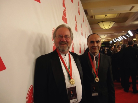 At the 2010 Latin Grammy Awards with Ricardo Gallardo.