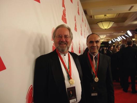 At the 2010 Latin Grammy Awards with Ricardo Gallardo.