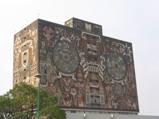 The UNAM Library and masterpiece of Juan O'Gorman.