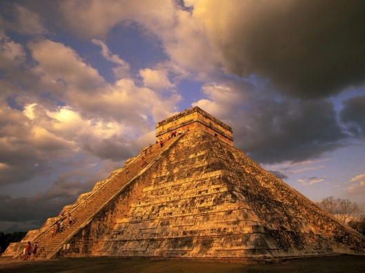 The Mayan Temple of Chichen Itza.