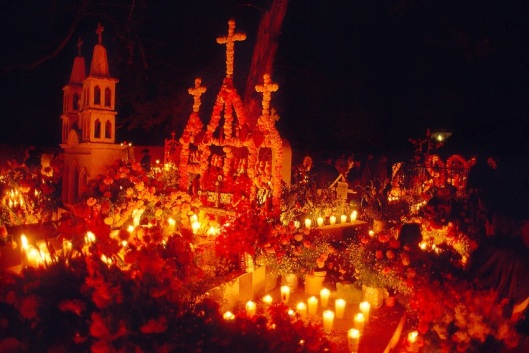 The Day of the Dead in Mexico.