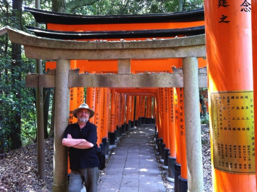 At Fushimi Inari in Kyoto.
