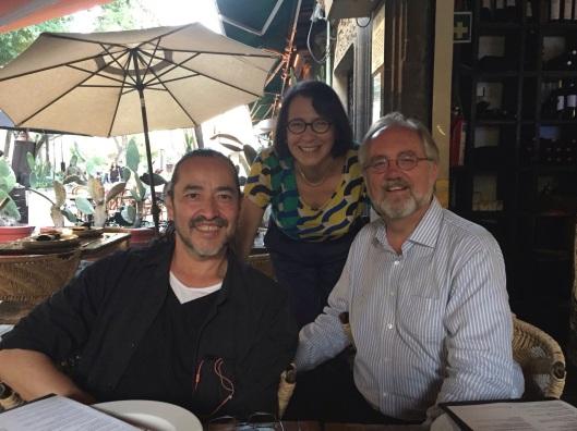 With composer and Tambuco member Raul Tudon at Los Danzantes.