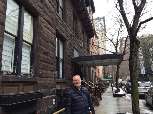 In front of Carter's apartment in March, 2015.