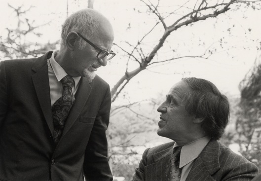 My teacher, Leonard Stein, at the opening of the Schoenberg Institute at USC with Pierre Boulez.