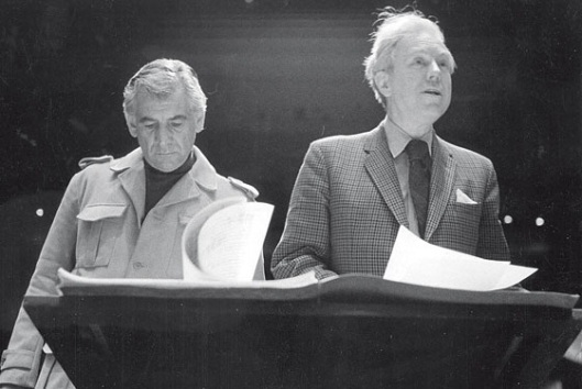 Leonard Bernstein and Elliott Carter.