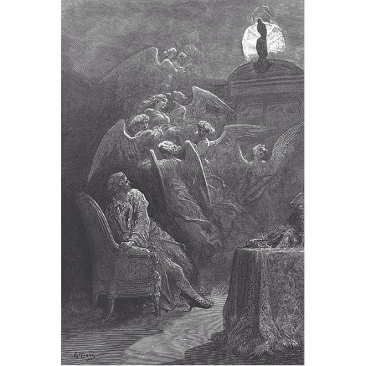 Gustave Dore illustrated Stephane Mallarme's Poe translation of The Raven.