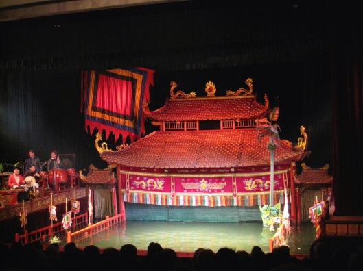 The Water Puppet Theater in Hanoi, Vietnam